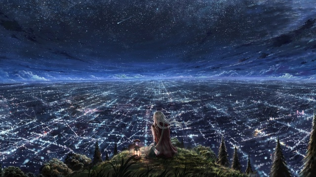 girl_watching_city_at_night-1920x1080