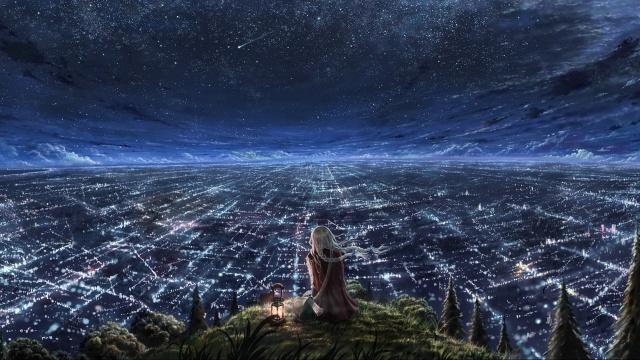 girl_watching_city_at_night-1920x1080